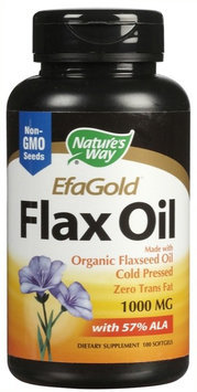 Nature's Way Flax Oil 1,000 mg Softgels