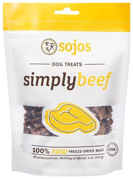 Sojourner Farms 7-55709-72004-8 Sojos Simply Beef Dog Treats - 4 oz. bag