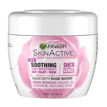 Garnier SkinActive Soothing 3-in-1 Face Moisturizer with Rose Water
