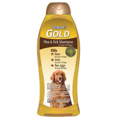 Sergeant S Pet Products P Sergeant's Gold Flea and Tick Dog Shampoo - 18 oz
