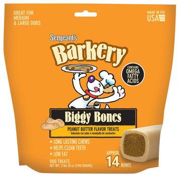 Sergeant's Pet Barkery Biggy Bones - Peanut Butter Flavor - 42 oz