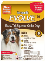 Sergeant's Evolve Flea and Tick Squeeze-On for Dogs - 40-60 lb