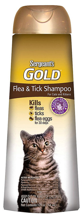 Sergeant's Pet Products Sergeant's Gold Flea and Tick Cat Shampoo - 12 oz