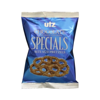 Utz Chocolate Flavored Covered Bite Size Pretzels