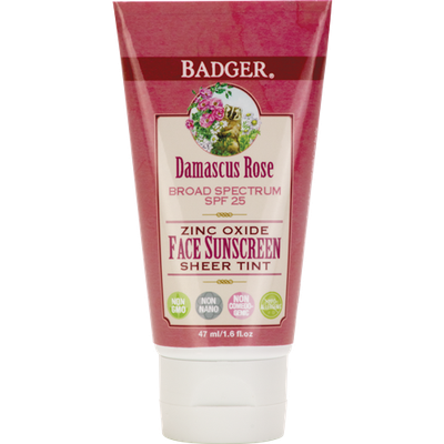 BADGER® SPF 25 Rose Tinted Face Sunscreen