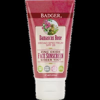 Badger Balm SPF 25 Rose Tinted Face Sunscreen