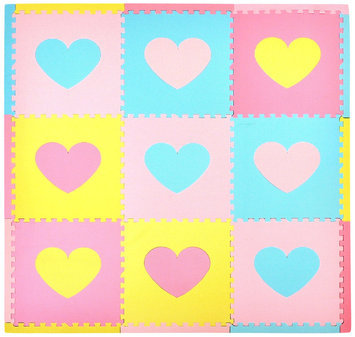 Tadpoles Playmat Set 9pc Hearts