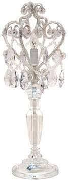 Sleeping Partners Chandelier Table Lamp in Clear White
