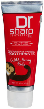 Dr Sharp Dentistry Dr. Sharp Dentistry - Kid's Natural Toothpaste Fluoride-Free Wild Berry - 3 oz.