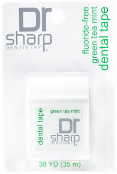 Dr Sharp Dentistry Dr. Sharp Dentistry - Dental Tape Fluoride-Free Floss Green Tea Mint - 38 Yards