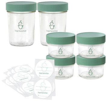 3 Stories Trading Company, Llc Sage Spoonfuls Glass Baby Food Storage Kit