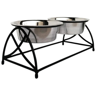Petsstop Raised Double Bowl Butterfly Diner, 3 qt.