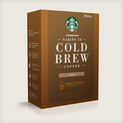 STARBUCKS® Cold Brew Coffee Pitcher Packs Ground
