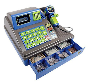 Zillionz 3050006 Talking Cash Register Speaks 3 Languages