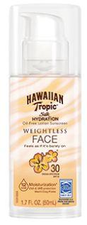 Hawaiian Tropic® Silk Hydration Weightless SPF 30 Face Sunscreen