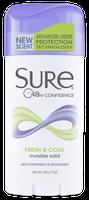 Sure® Fresh & Cool Invisible Solid Antiperspirant & Deodorant