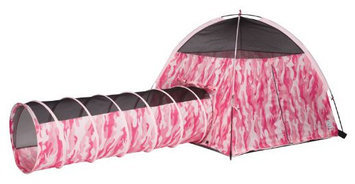 Pacific Play Tents Pink Camo Tent & Tunnel Combo #30470