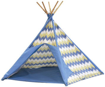 Pacific Play Tents Striation Blue Cotton Canvas Tee Pee - New