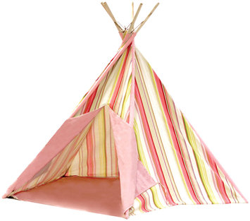 Pacific Play Tents Striation Pink Cotton Canvas Tee Pee - New