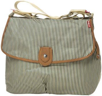 BabyMel Statchel Tote Style Diaper Bag - Navy Stripe