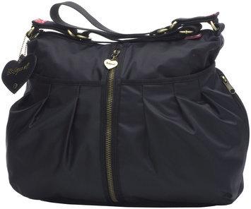 Babymel Amanda zipper heart changing bag, Black