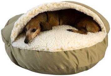 Snoozer Orthopedic Cozy Cave Pet Bed in Khaki & Cream, 25 Diameter