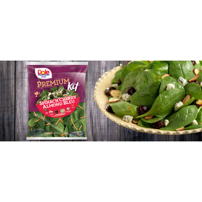 Dole Fresh Premium Spinach Cherry Almond Bleu Kit