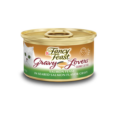 Fancy Feast® Gravy Lovers™ Salmon Wet Cat Food In A Seared Salmon Flavor Gravy