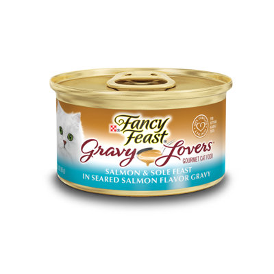 Fancy Feast® Gravy Lovers™ Salmon & Sole Wet Cat Food In A Seared Salmon Flavor Gravy