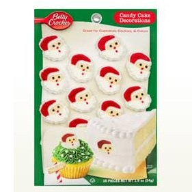 Betty Crocker™ Christmas Santa Face Candy Card Decoration