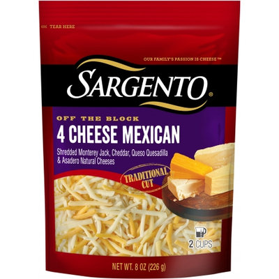 Sargento® Shredded 4 Cheese Mexican - Traditional Cut