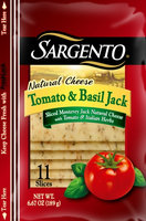 Sargento® Sliced Tomato & Basil Jack Cheese