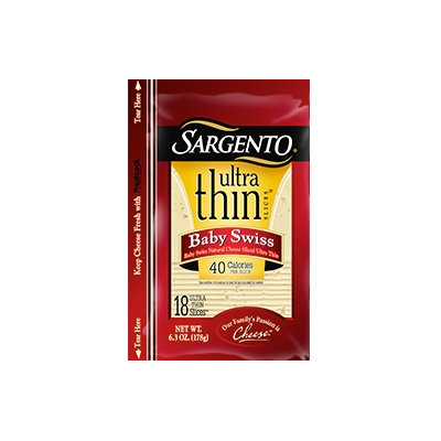 Sargento® Ultra Thin® Baby Swiss Cheese Slices