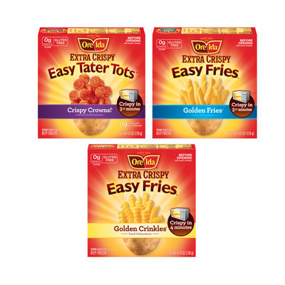 Ore-Ida® Extra Crispy Easy Fries and Tater Tots