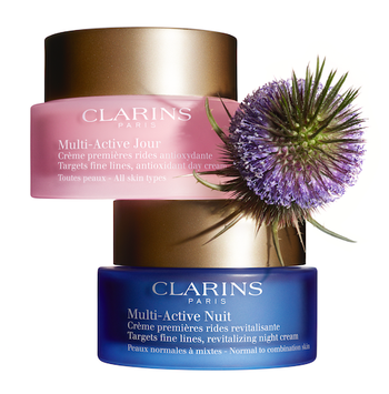 NEW Clarins Multi-Active Day & Night Creams