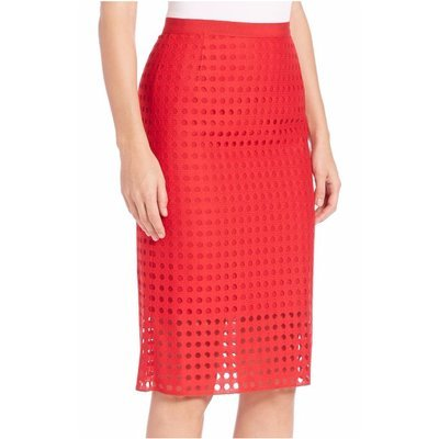 Akris Punto Dot Lace Pencil Skirt