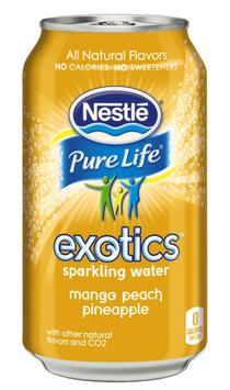 Nestlé® Pure Life® Exotics™ Mango Peach Pineapple Sparkling Water