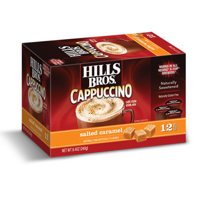 Hills Bros. Cappuccino Single Serve Cups, Salted Caramel