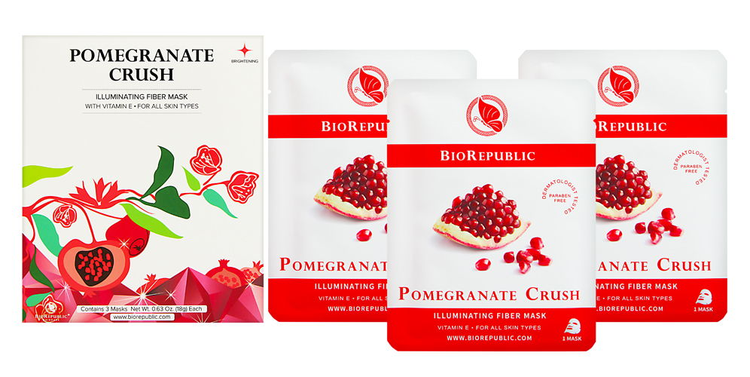 BioRepublic Pomegranate Crush Illuminating Fiber Mask