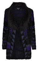 City Chic Aztec Fur Trim Cardigan