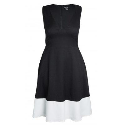 Sweet Stripe Contrast Ponte Dress