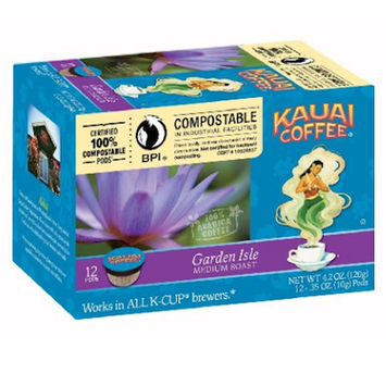 Kauai Coffee Garden Isle Medium Roast Compostable Cups