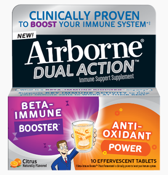 Airborne Dual Action Effervescent Tablets