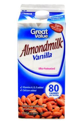 Great Value Vanilla Almond Milk