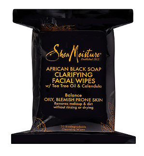Shea Moisture African Black Soap Clarifying Cleansing Facial Wipes