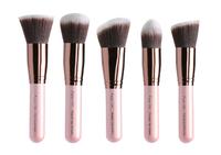 Luxie Rose Gold Synthetic 5 Piece Kabuki Brush Set
