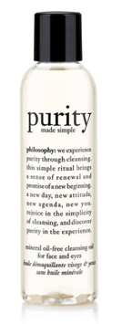 philosophy purity made simple mineral oil-free facial cleansing oil