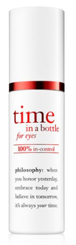 philosophy time in a bottle 100% in control eye serum