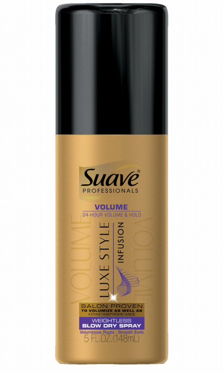 Suave Professionals Luxe Style Infusion Volumizing Weightless Blow Dry Spray