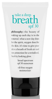 philosophy take a deep breath broad spectrum spf 30 sunscreen oil-free oxygen moisturizer